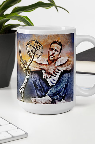 Flanery Won Emmy Grunge Art Mug