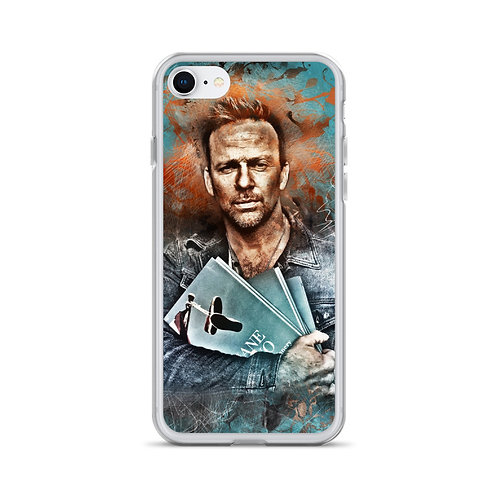 Flanery with Jane Two Grunge Art Liquid Glitter Phone Case