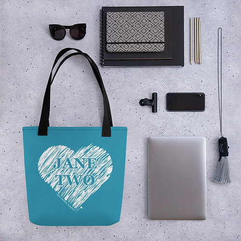 Jane Two Heart Design Tote bag