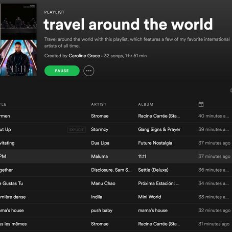 travel around the world with this  playlist