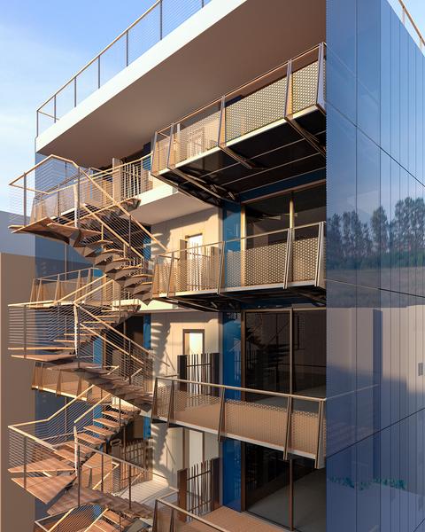 Blu Dalmazia - Interno sul cortile