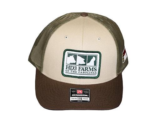Tan/Green Trucker Cap