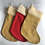 Thumbnail: Large Red/gold personalised stockings