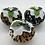 Thumbnail: Set of 3 Leopard print Christmas pudding decorations