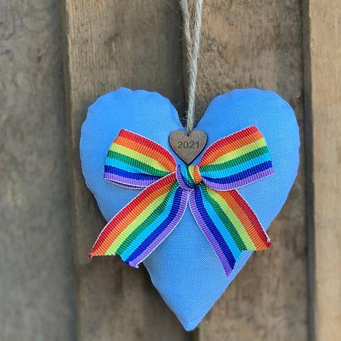Large 2021 Rainbow hearts