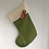Thumbnail: Olive Green/red Personalised stockings (large & small)