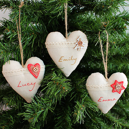Personalised Canvas Heart - Tree/Star/Heart