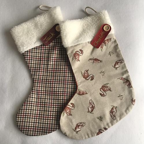 Squirrels & Tweed Personalised stockings