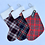 Thumbnail: Red Tartan Personalised Stockings (small & large)