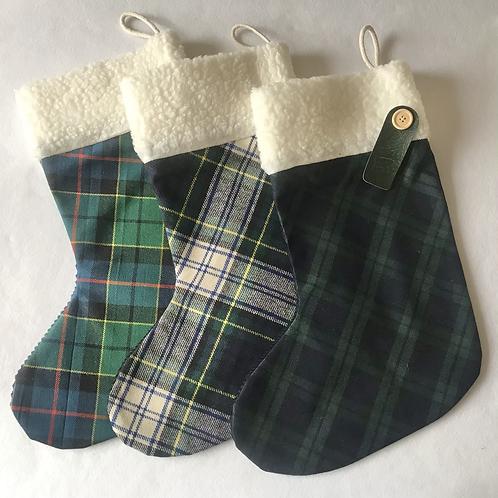 GreenTartan personalised stockings (small & large)