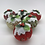 Thumbnail: Set of 6 Red/Green/Gold Christmas pudding decorations