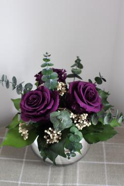 Purple/cream mirror ball
