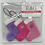 Thumbnail: Hand-knitted Tree Stockings -Pinks/lilac
