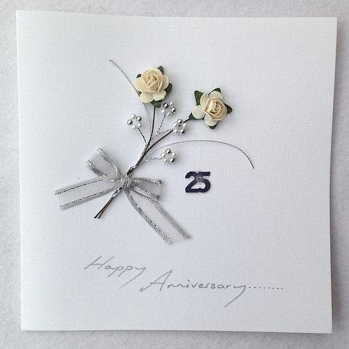 Silver Wedding Anniversary Card