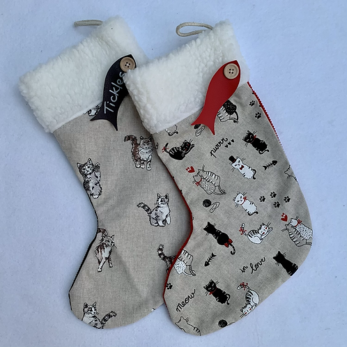 Small Cat Personalised stockings