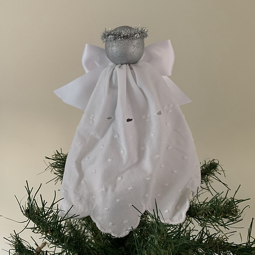 Tree-topper Angels -White Embroidered Anglaise