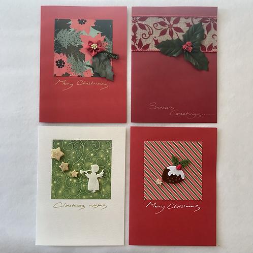 Handmade Christmas cards....Classic christmas