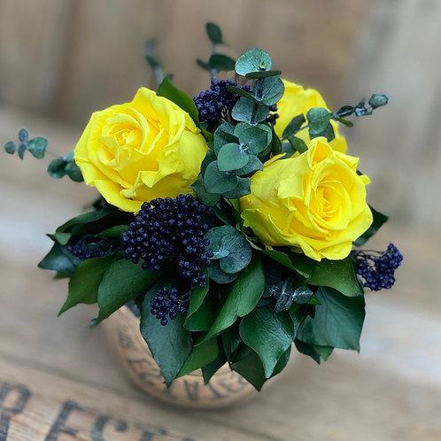 Mirror Ball - Bright yellow/blue