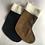 Thumbnail: Brown stag & Tartan personalised stockings