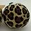 Thumbnail: Leopard print Christmas pudding decorations