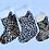 Thumbnail: Animal print Personalised stockings ( large & small