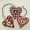 Thumbnail: Personalised Red patterned Hearts