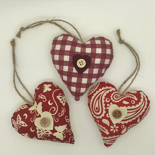 Personalised Red patterned Hearts