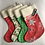 Thumbnail: Classic Red/Green Personalised stockings (small & large)