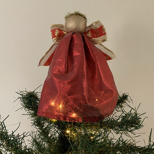 Tree-topper Angels - Red metallic