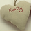 Thumbnail: Personalised Red Dot pattern Hearts