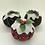Thumbnail: Set of 3 Tartan/natural Christmas pudding decorations