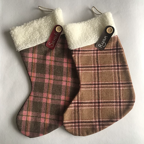 Large (pure wool) personalised stockings