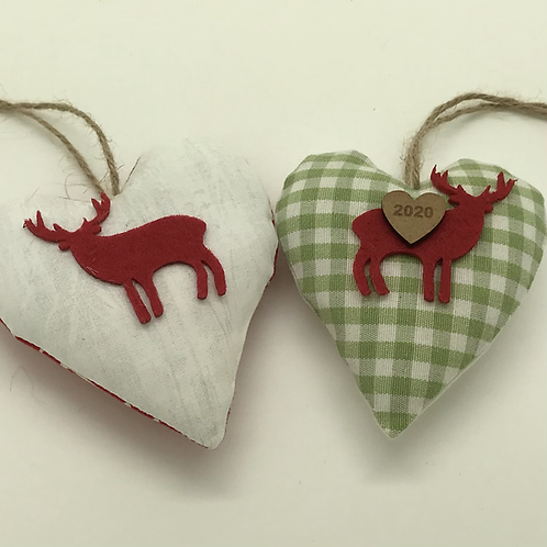 Reindeer Christmas hearts