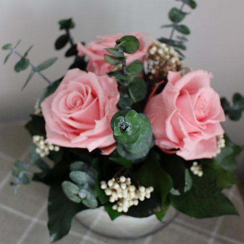 Mirror Ball - Pastel Pink/cream