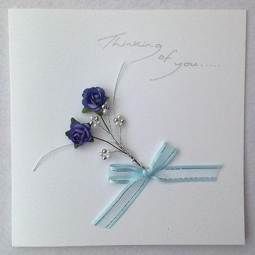 Sympathy Card - Blue Rose Spray