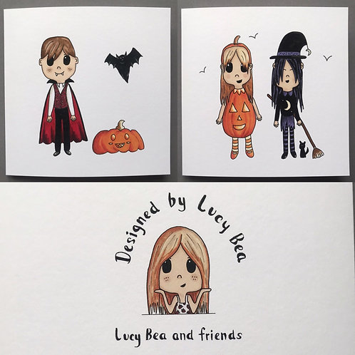 Dressing up for Halloween... 2 cards