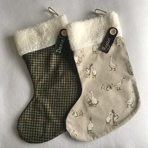 Goose/Duck & Tweed Personalised stockings
