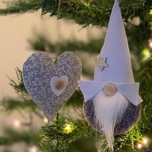Grey Gnorbit & grey floral heart.