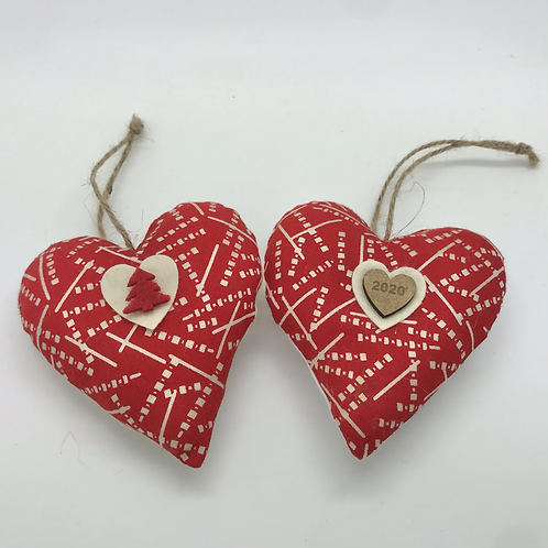 Personalised Red Dot pattern Hearts