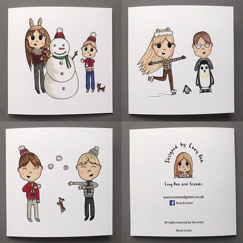 Winter is fun .... set of 3 Christmas cards