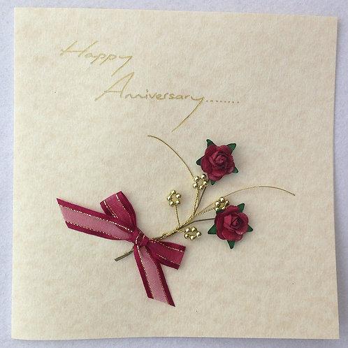 Wedding Anniversary Card - Rose Spray