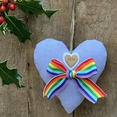 Large Rainbow hearts