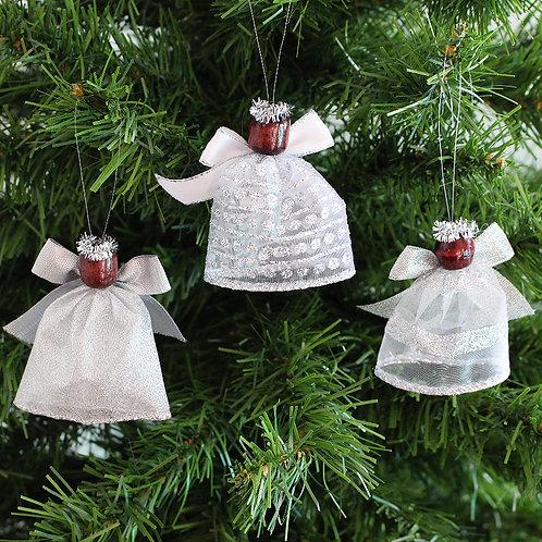 Small Tree Angels - Silver stripe