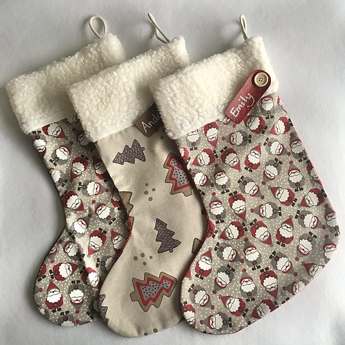 Father xmas & Trees Personalised stockings