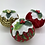 Thumbnail: Set of 3 Red/Green/Gold Christmas pudding decorations