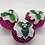 Thumbnail: Set of 3 Pink Christmas pudding decorations