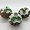 Thumbnail: Set of 3 Brown/Gold Christmas pudding decorations