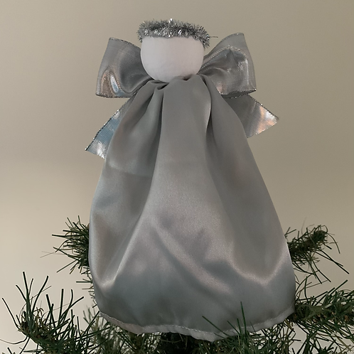 Tree-topper  - Silver satin