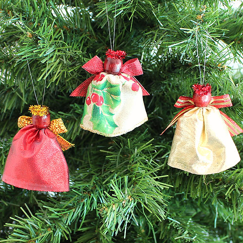 Small Tree Angels - Red, Gold & Holly
