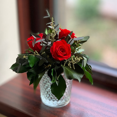 Small Red rose spray